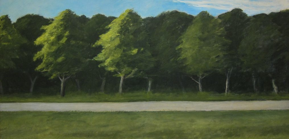 Edward Hopper - Road and Trees 1962 (detail)