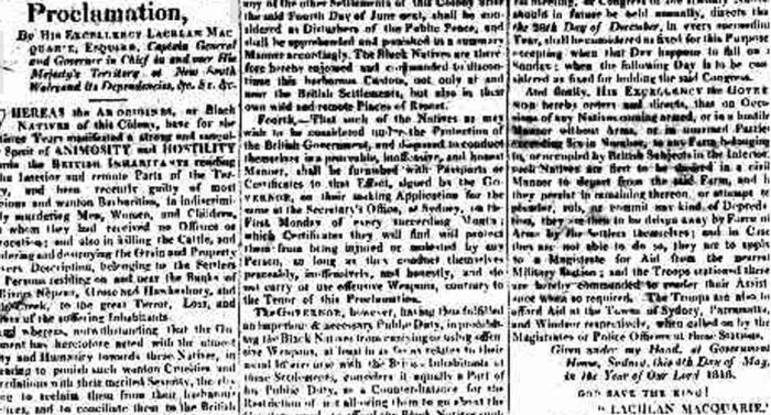 Sydney Gazette 4 May 1816