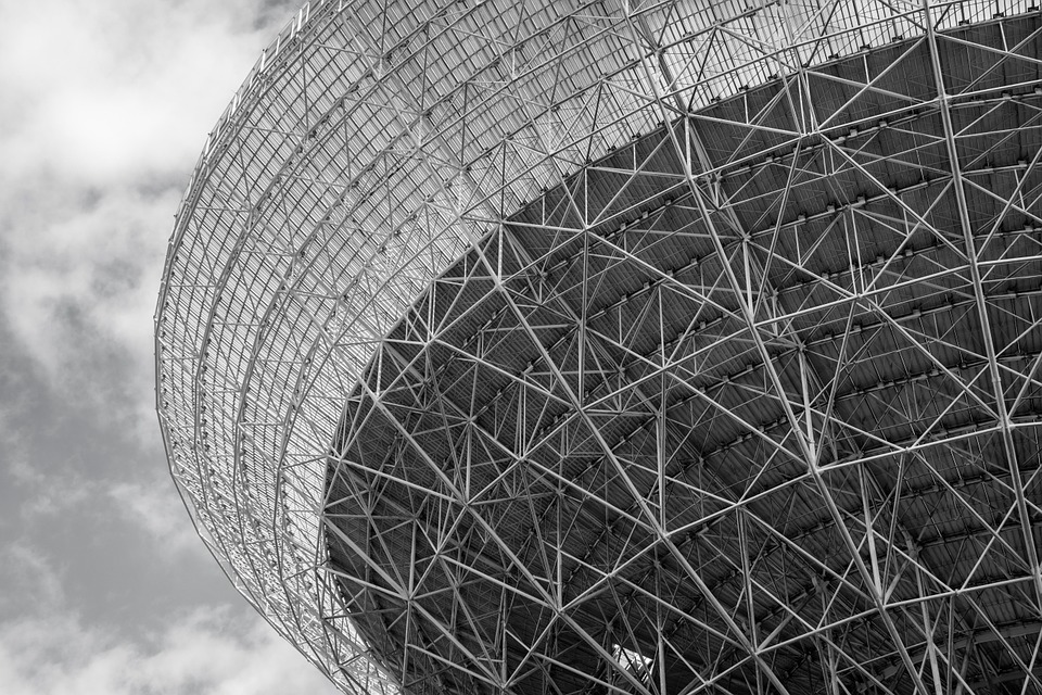 Structure Radio Telescope Effelsberg Black And White