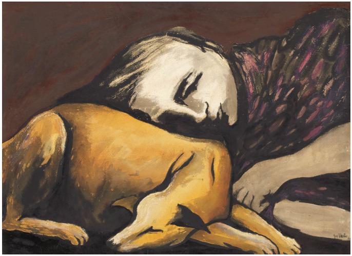 Joy-Hester-Girl with dog